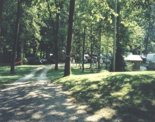 RV sites with full hookups on the Nantahala River North Carolina.