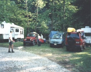 RV sites with full hookups on the Nantahala River North Carolina