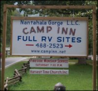 Camp Inn - Full RV Hookups in the Nantahala Gorge.